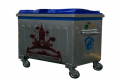 800 Lt. Plastik Kapaklı Çöp Konteynerı